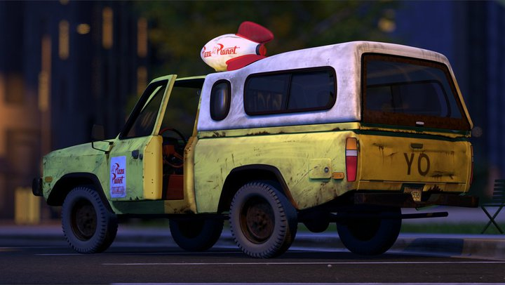 Pizza Planet Truck as seen in A Toy Story by Pixar