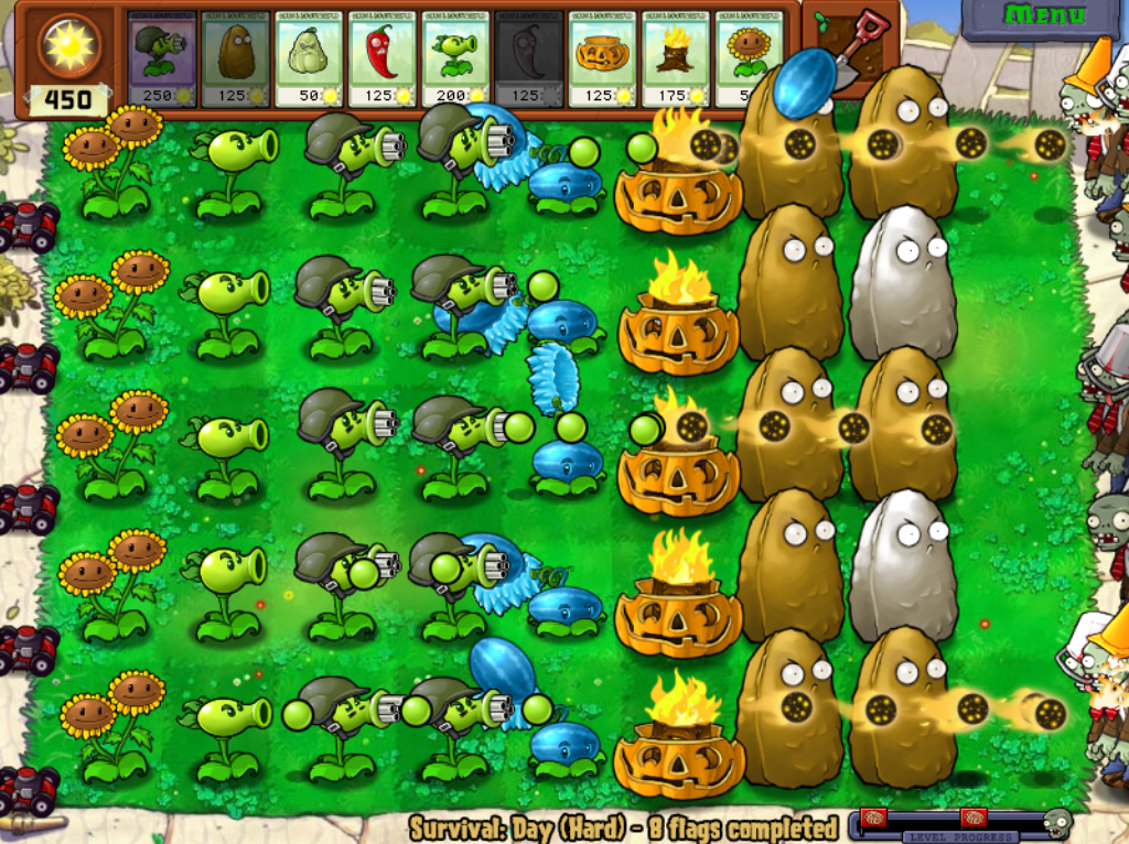No survival mode plants vs zombies youtube