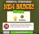 Accidental Veterinarian Badge