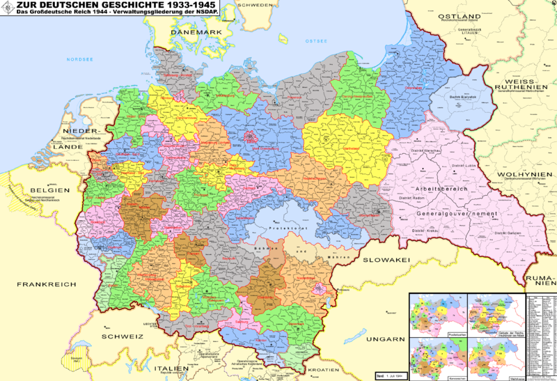 nazi germany political divisions By the middle of 1933, the nazi party was the only political party, and nearly all organized opposition to the regime had been eliminated democracy was dead ss and sa become auxiliary police units less than a month adolf hitler appoints ss chief heinrich himmler chief of all german police units all police.