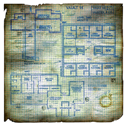 Let's Jogar: Fallout - A Post Nuclear Roleplaying Game Fo1_Vault_15_Townmap