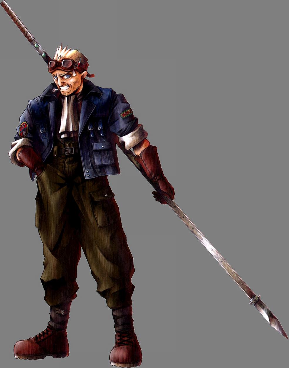 Final Fantasy VII (PS1/PC/PSN) CidHighwind-FFVIIArt