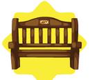 Wooden Museum Bench