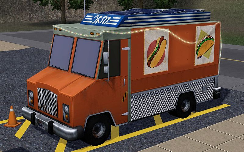Sims  Food Truck Parking Space