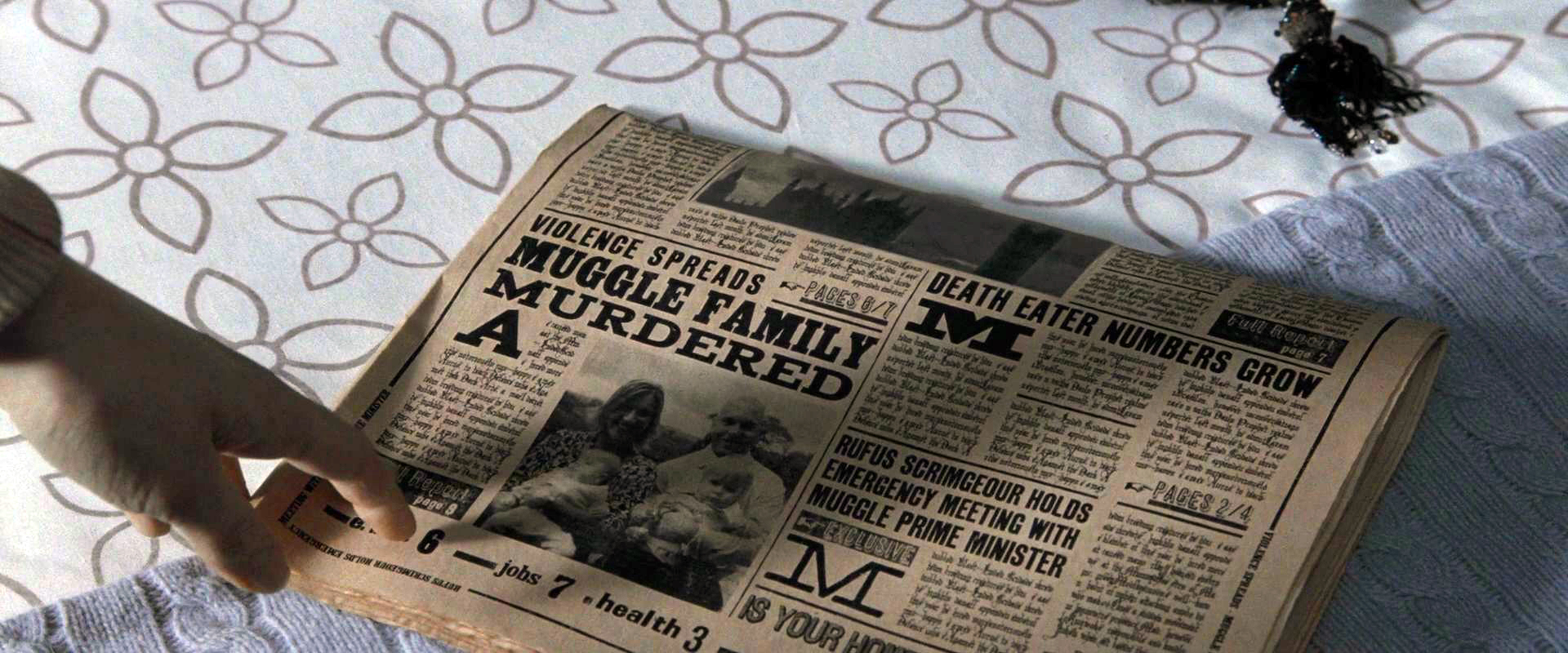 Image - Daily Prophet reports Muggle Family murdered.jpg - Harry ...