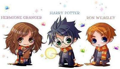 FileHarry Ron Hermione Harry Potter Draco And Hermione Anime