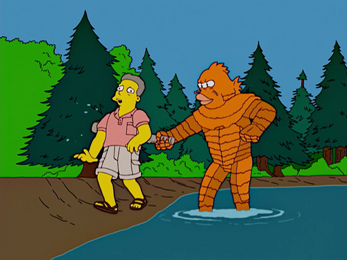 Blinky simpsons wiki wikia for Cat goes fishing wiki