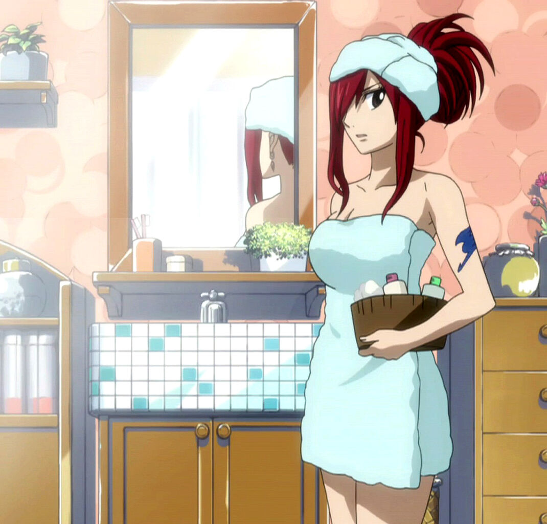 Image - Erza in bathroom.jpg - Fairy Tail Wiki, the site ...
