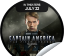 Captain America: The First Avenger Coming Soon (Sticker)