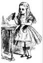 Alice holding the Drink Me potion.png