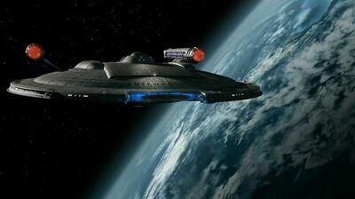 Enterprise im Orbit der Erde
