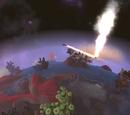 Botón de convocar asteroides