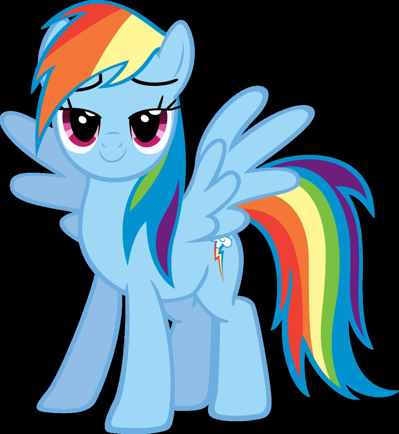Rainbow Dash Png Image - Happy r...