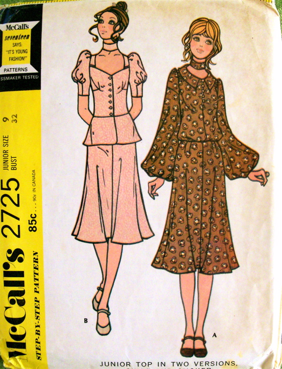 Mccall S 2725 Vintage Sewing Patterns