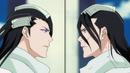 Ep327 - Byakuya & Reigai Byakuya face each other.png