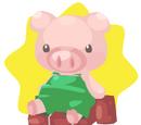 Green Pig Plushie