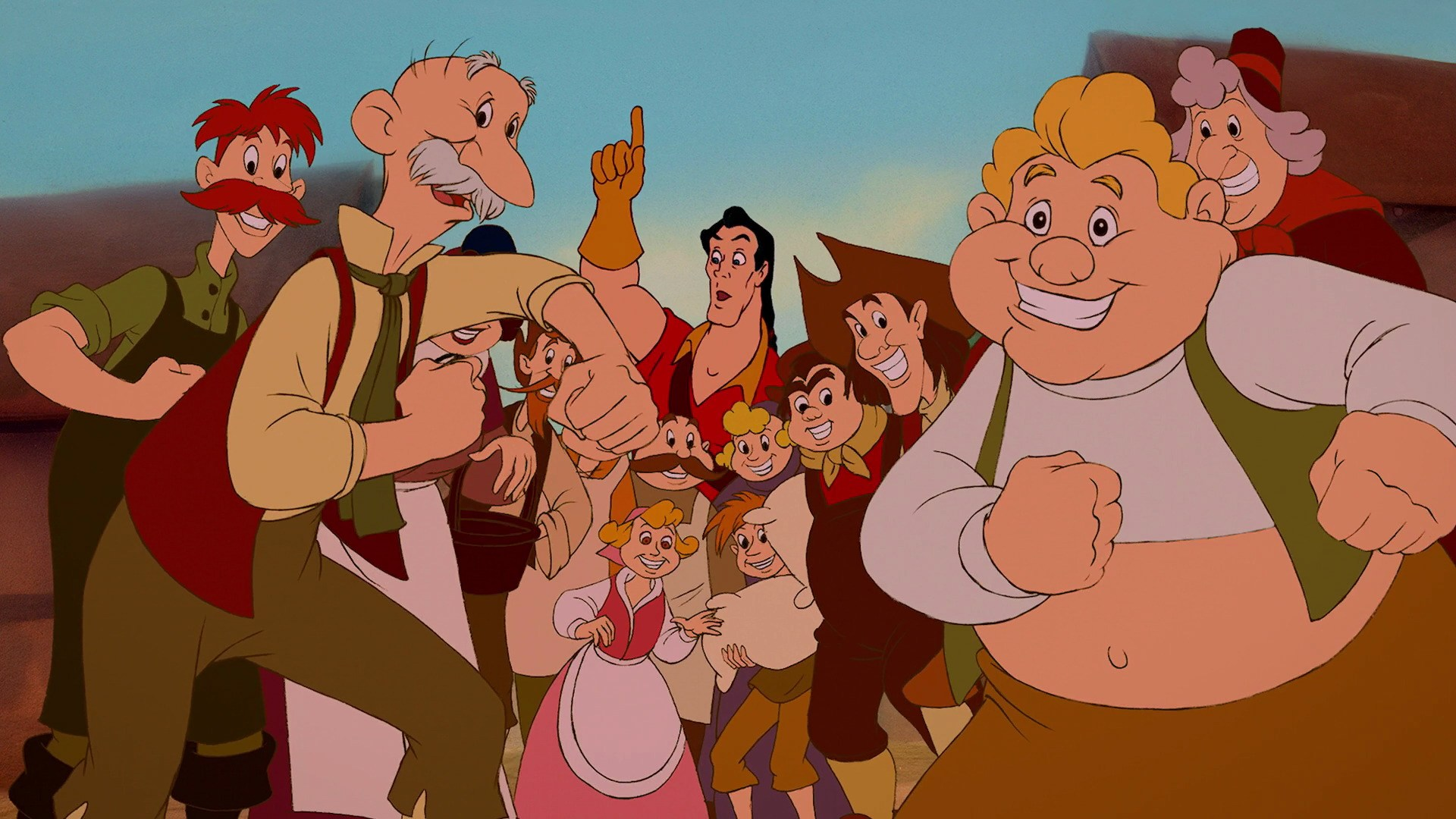 villagers beauty and the beast disney wiki wikia