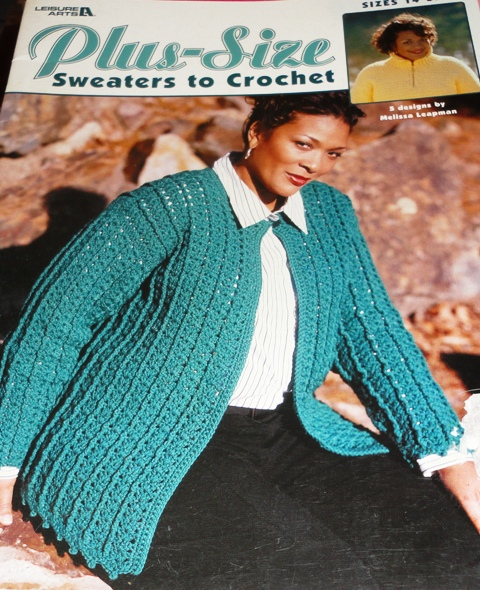 Knitting Patterns For Plus Size Sweaters : Leisure Arts 3530 Plus Size Sweaters to Crochet - Knitting ...