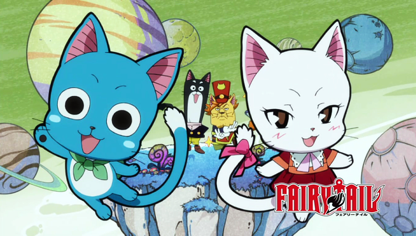 Image - Cute Happy and Carla.JPG - Fairy Tail Wiki, the ... Happy Fairy Tail Cute