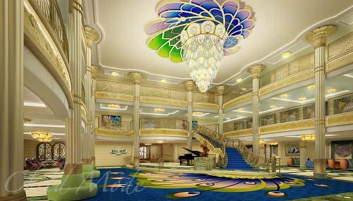 Disney Cruise Atrium Disney-fantasy-atrium-lobby