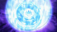 Beyblade 4D Fantasma Orion chamas azuis