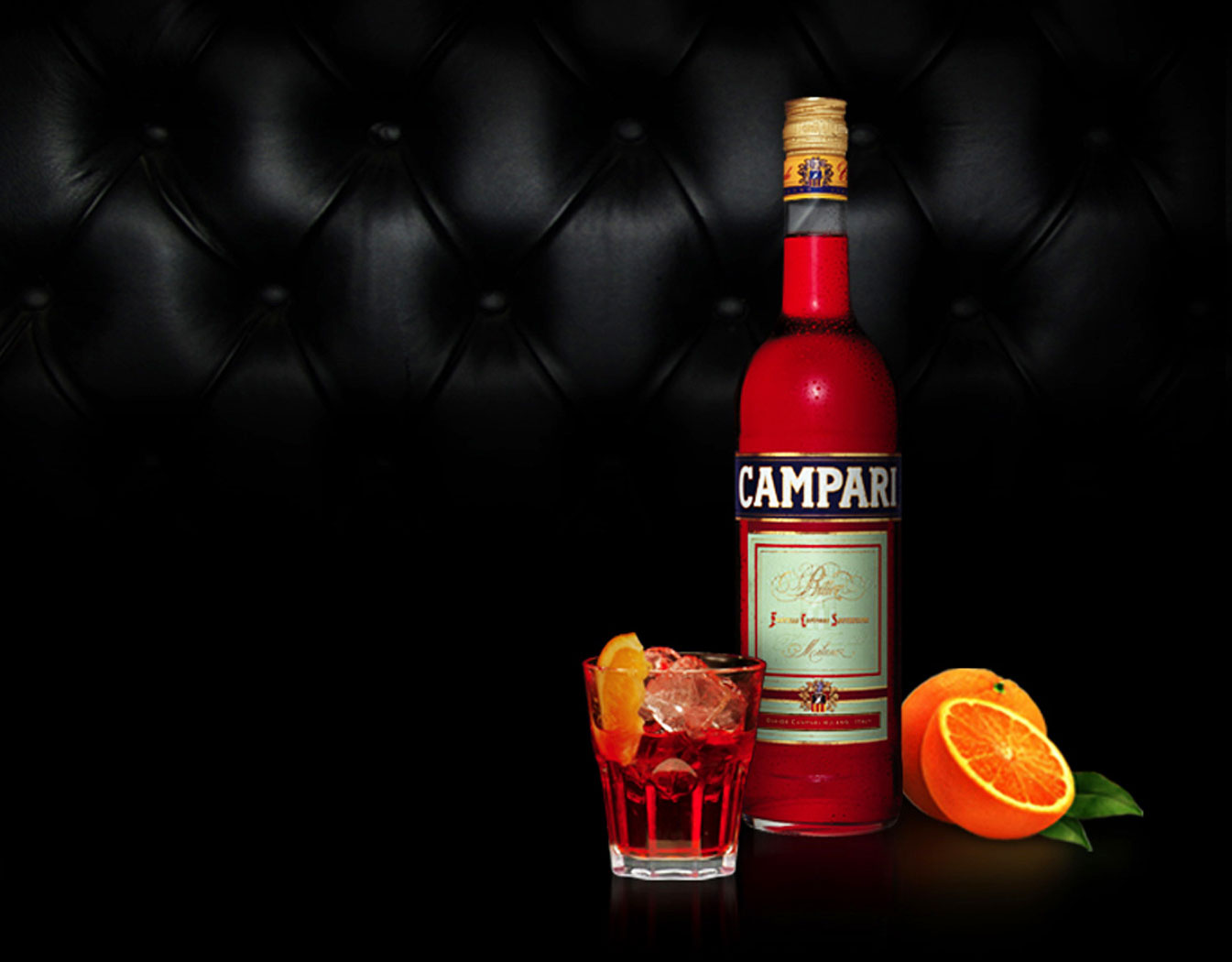 Campari was used in a cocktail made by The Master . Mixed with parts ...