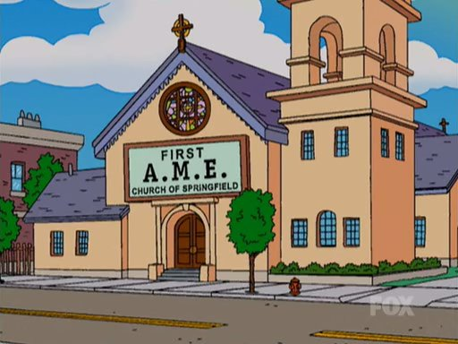 First a m e church of springfield simpsons wiki for First ch