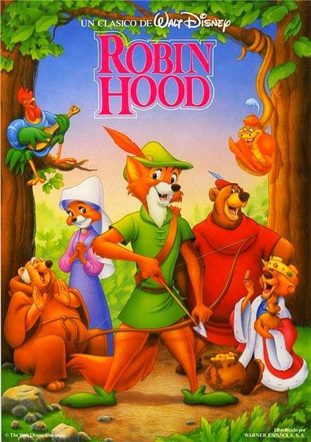 Disney robin hood movie poster