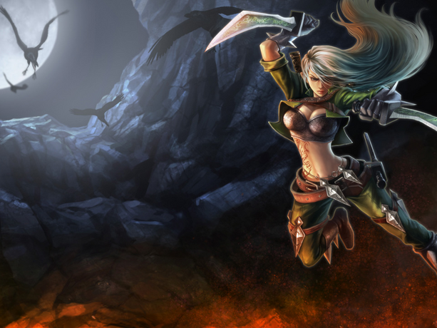 Mercenary Katarina Splash Art Mercenary katarina  old Katarina Cat Skin