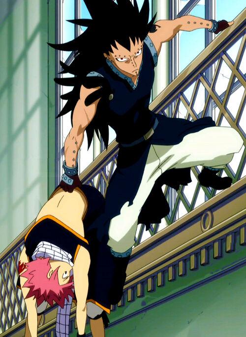 Fairy Tail Gajeel Cat Gajeel saves Natsu