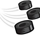 Hockey Puck Trio