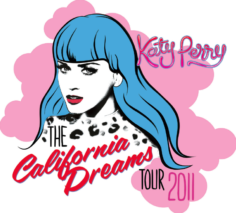 Official California Dreams Tour logo Katy Perry One Of The Boys Poster