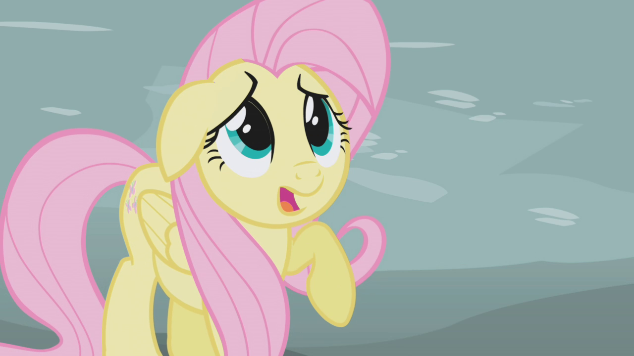 Image - Fluttershy scared by Gilda S1E05.png - My Little ...