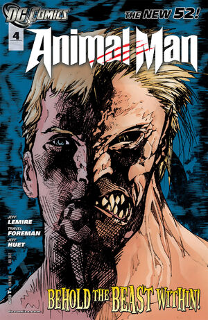 Cover for Animal Man #4 (2012)