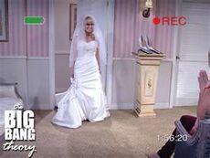 Bernadette in a wedding dress