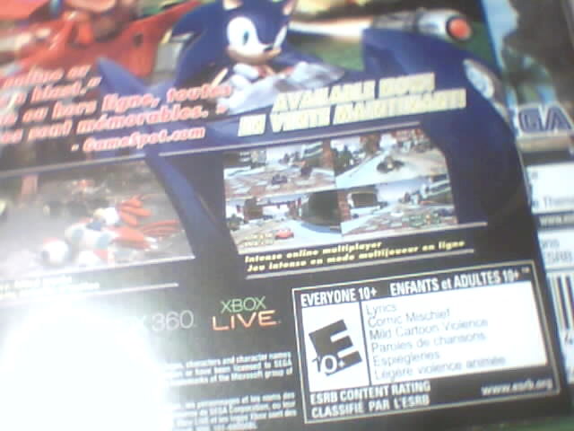 sonic generations instruction manual