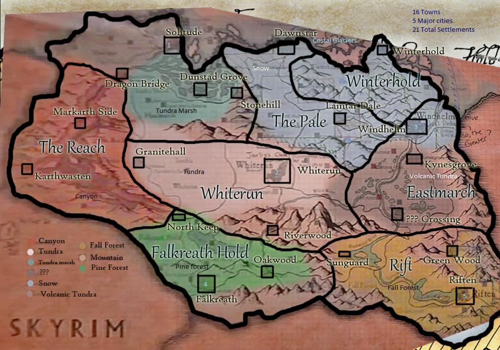 User Blog Bigbossbalrog Skyrim Dettailed Map The Elder