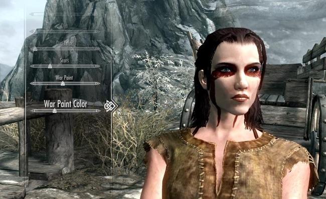 Как сделать красивый персонаж в skyrim 661