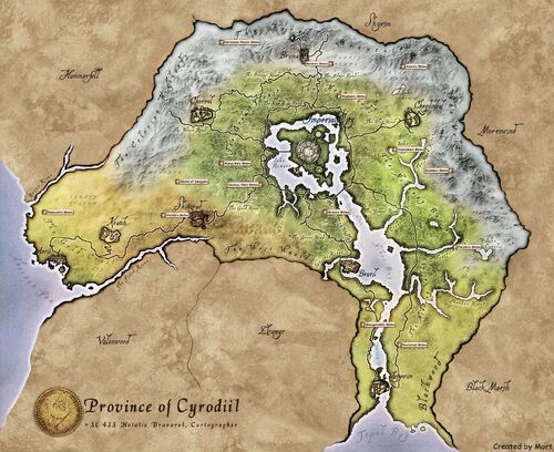 Oblivion карта святилищ