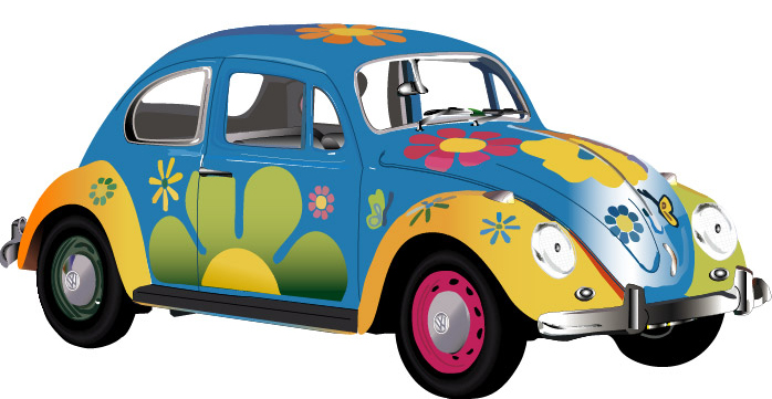 hippie flower power clip art car interior design. Black Bedroom Furniture Sets. Home Design Ideas