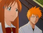 415px-Orihime & Ichigo talk