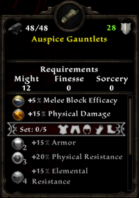 Auspice Gauntlets - Amalur Wiki