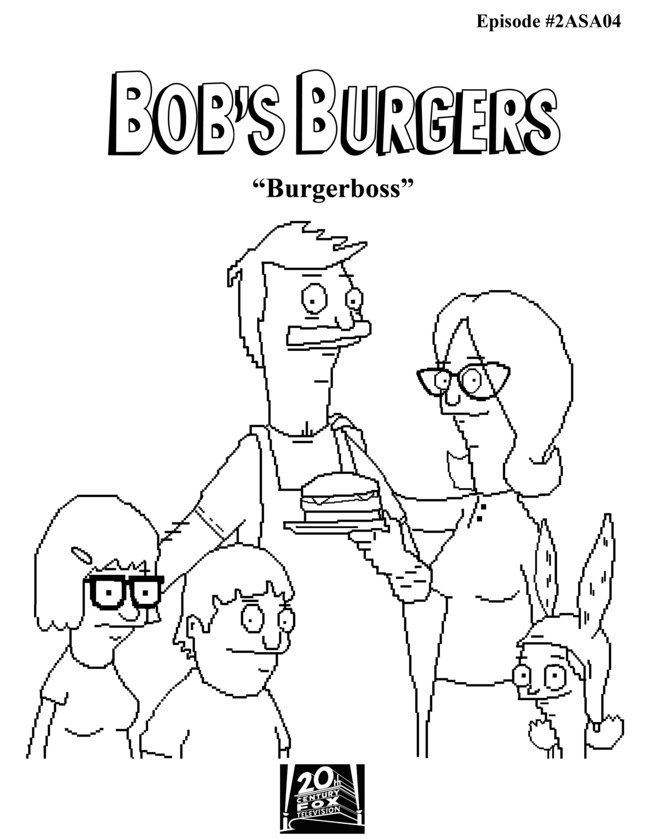 bobs burger coloring pages - photo#14