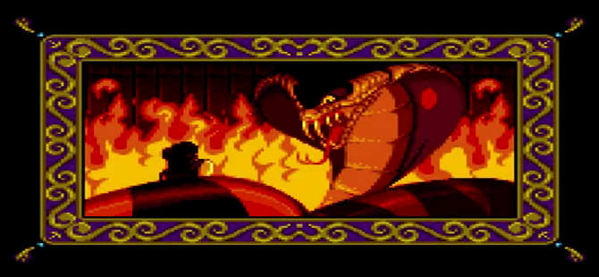 Image snake jafar in aladdin the video - Serpent aladin ...