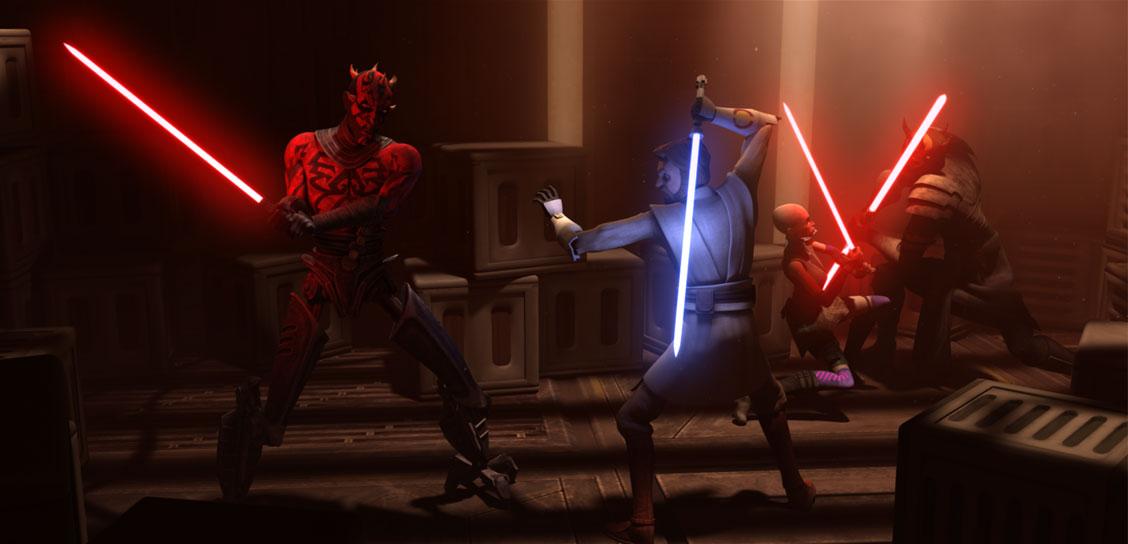 Darth Sidious Vs Maul Clone Wars And Opress Battle Kenobi