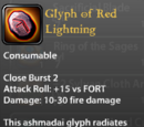 Glyph of Red Lightning