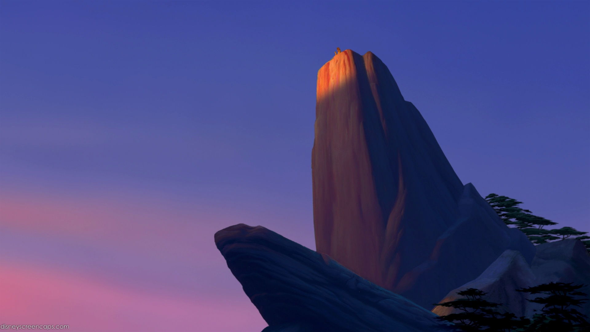 Lion king pride rock scene - photo#21