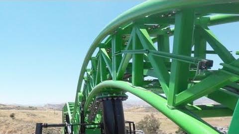 Green Lantern First Flight! On-Ride (HD POV) Six Flags Magic Mountain California Roller Coaster
