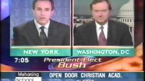 Dec., 2000 The Today Show Bush Wins the Election, part 1!!