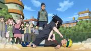 Sparing Sasuke i Naruto